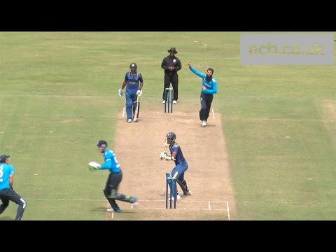 Moeen Ali wicket - Dinesh Chandimal caught by Alastair Cook - England v Sri Lanka A