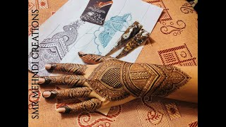 Pakistani Style Mehndi  with Intricate detailing and design | Engagement Bride| SMR Mehndi Creations