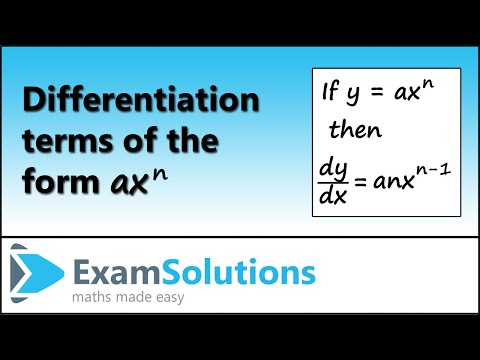 Differentiation 1 : ExamSolutions
