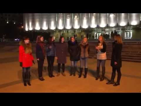Russian flashmob  Флешмоб по-русски