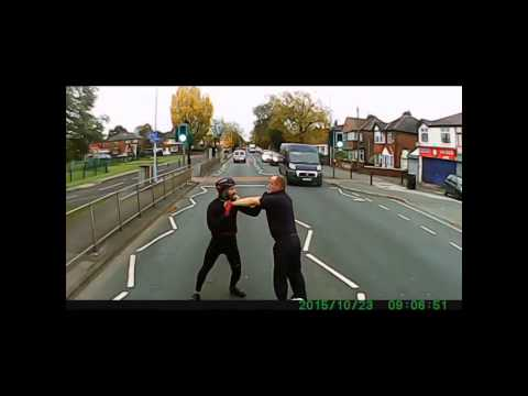 Road Rage Fight in Stockport Manchester
