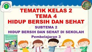 Kelas 2 Tematik : Tema 4 Subtema 2 Pembelajaran 3 (Hidup Bersih dan Sehat)