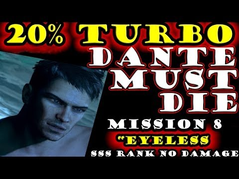 """DmC: Devil May Cry - DMD - Mission 8 """"Eyeless"""" Dante Must Die SSS Combo No Damage (20% Turbo)  """