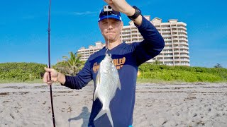 Beach Fishing - A Trick to Catch More Bait + Catch and Cook (Sand Perch)