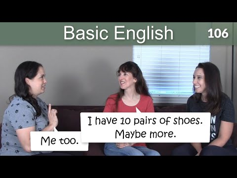 Lesson 106 ????? Basic English with Jennifer - Me too./Me neither.