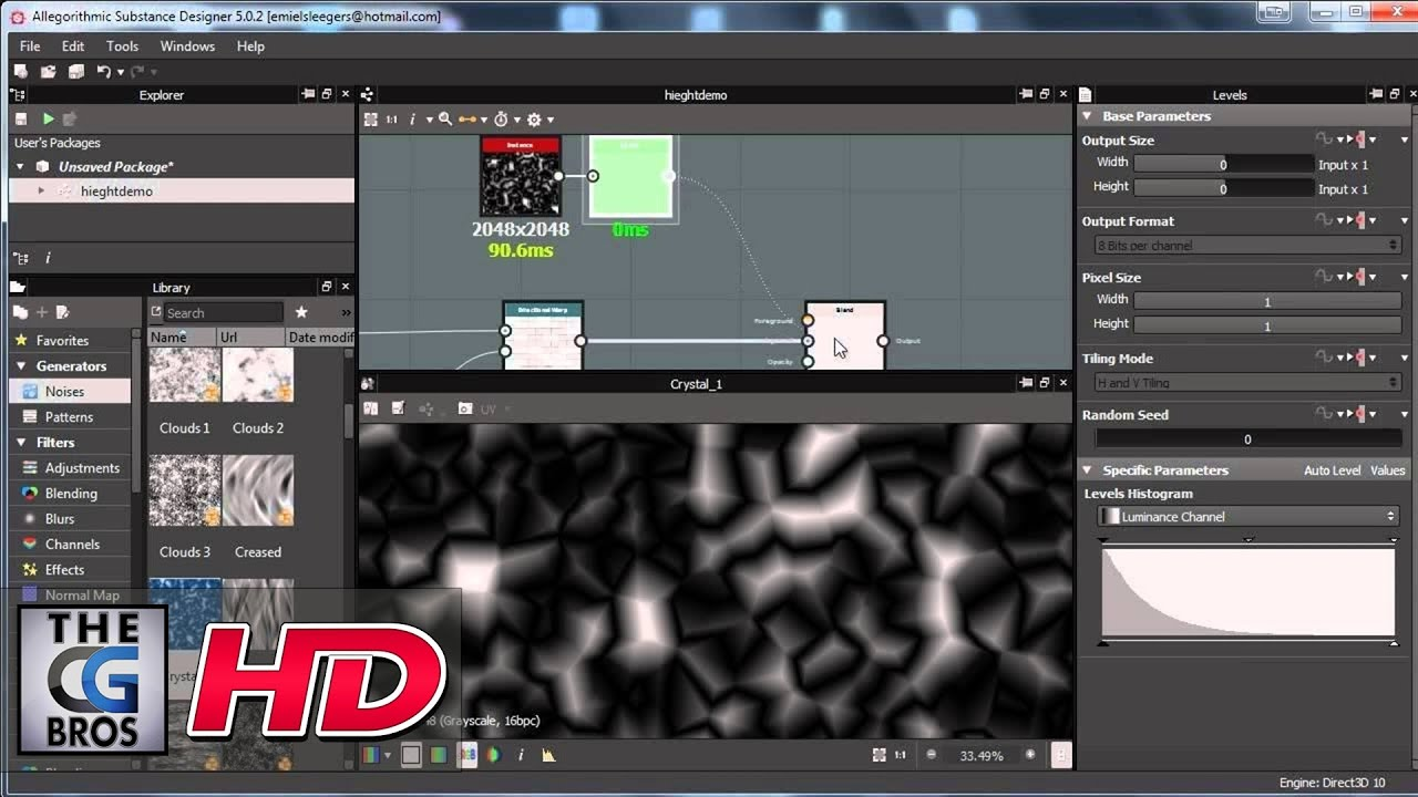 CGI D Tutorial HD Height Map Creation In Substance Designer - Grayscale height map us