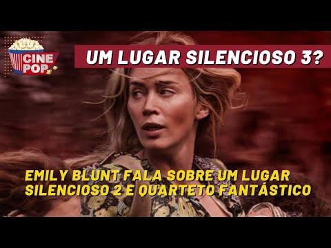 Emily Blunt RAINHA! A atriz fala sobre Um Lugar Silencioso 2 e 3....