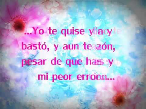 Alejandra Guzmán - mi peor error (letra)