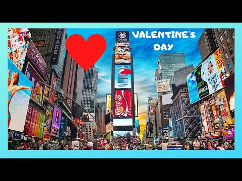 Spending Valentine's Day at Times Square, New York City (USA)