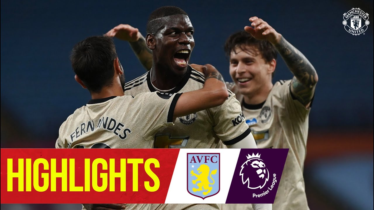 Highlights | Fernandes, Greenwood & Pogba on target as Reds win | Aston Villa 0-3 Manchester Uni