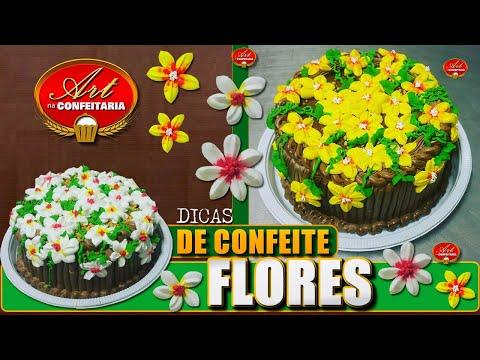 Bolo: com FLORES