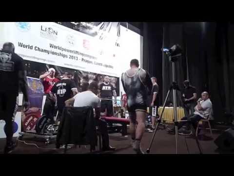 Record de france developpe couche 300 kg 305 kg champion du monde wpc 2013 110kg youtube - Record du monde developpe couche ...