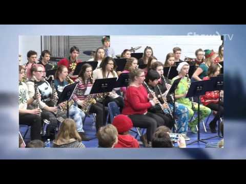 Dryden High School- Massed Band Performance 2015