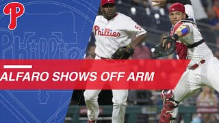 Alfaro shows off his strong arm against Atlanta