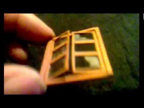 ventana de madera y carton efecto vidrios rotos para maquetas - YouTube