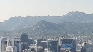 남산에서 본 서울시내 풍경 (2021년 5월12일 오후…