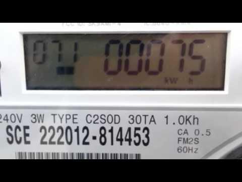 SCE SmartConnect NEM electric meter