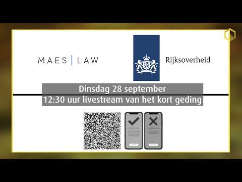 Livestream kort geding Maes/Lenting vs. de Staat de Nederlanden inzake de coronapas...