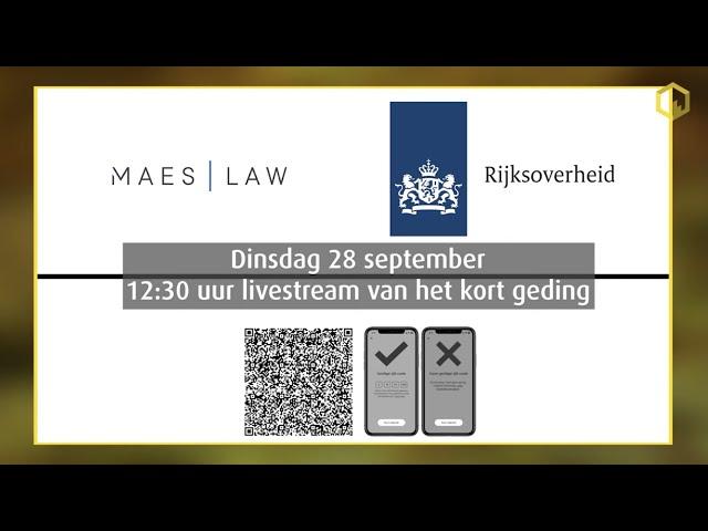 Livestream kort geding Maes/Lenting vs. de Staat inzake de coronapas...