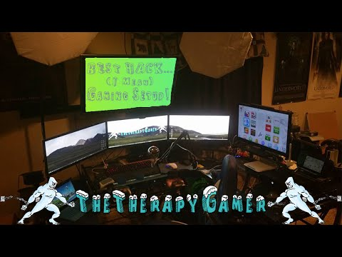 The Best Hack... i mean...Gaming Setup! (TheTherapyGamer 2015)