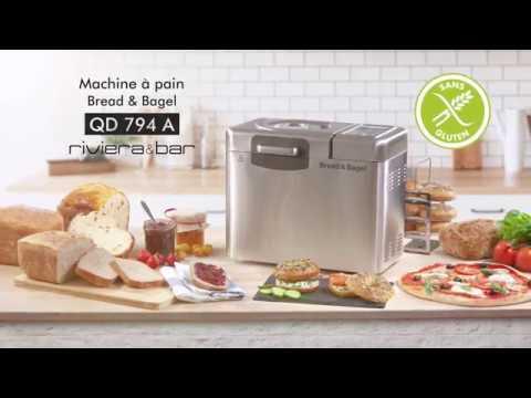 riviera et bar machine a pain bread bagel qd 794a