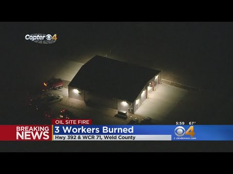 Oil Site Fire Sends Three People To The Hospital