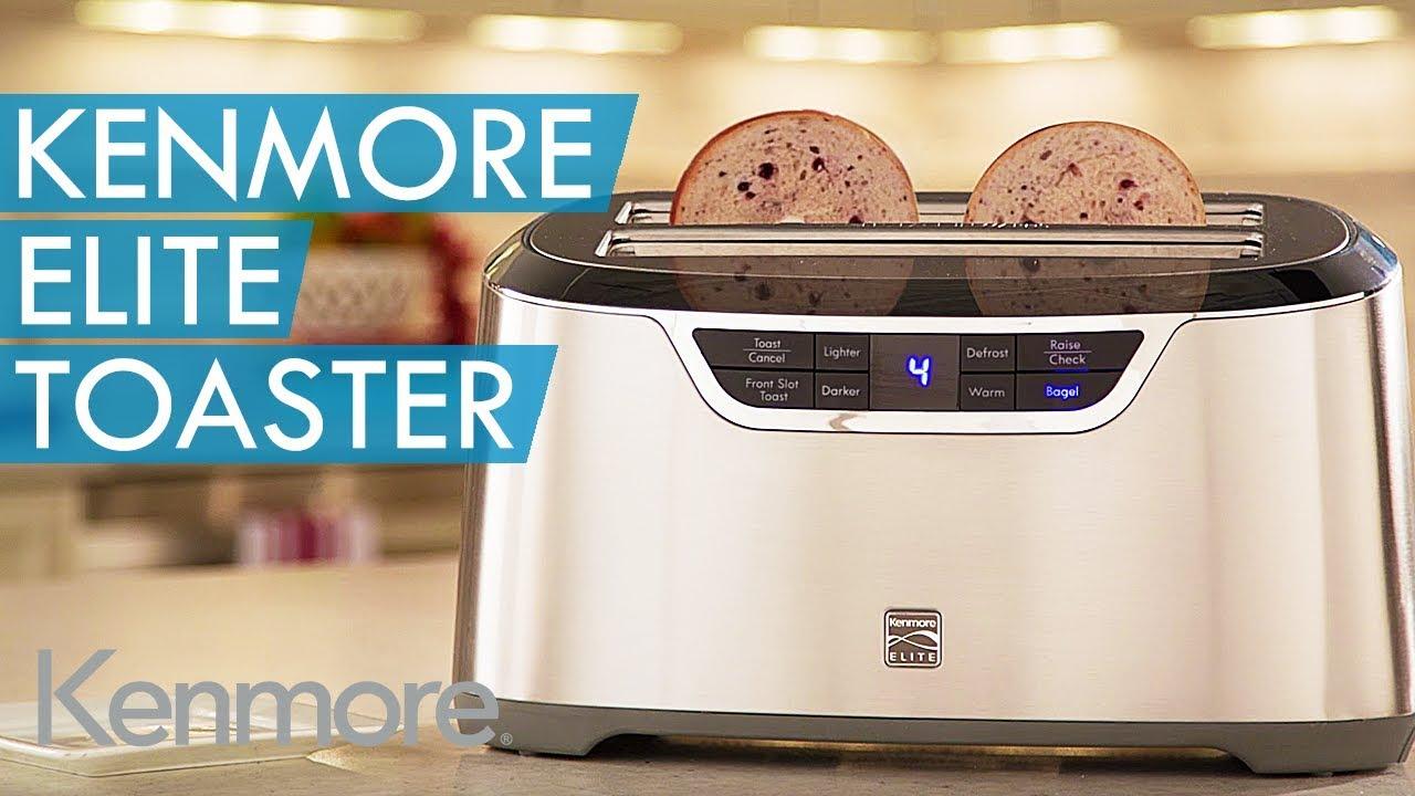 kenmore long slot toaster. kenmore elite® toaster heats things up long slot
