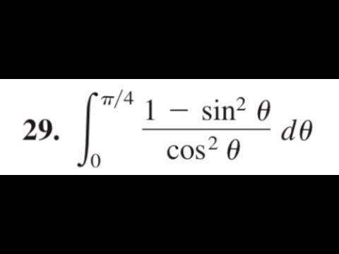 integrate (1 - sin^2(theta)/cos^2(theta)) d theta from ...