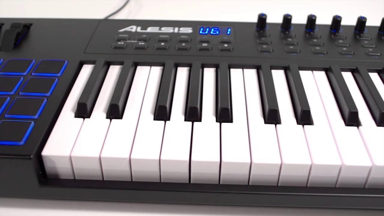 alesis vi61 advanced usb midi keyboard controller overview youtube. Black Bedroom Furniture Sets. Home Design Ideas