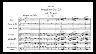 Mozart Symphony No. 25 KV 183 1st mv.t - Piano Transcription [tbpt5]