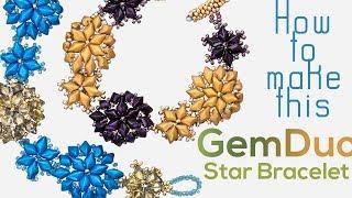 GemDuo & Miyuki Bead Star Bracelet | Seed Bead Design