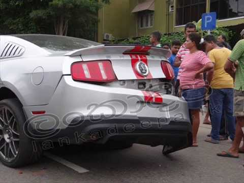 Ford Mustang Shelby Gt Accident In Sri Lanka Youtube