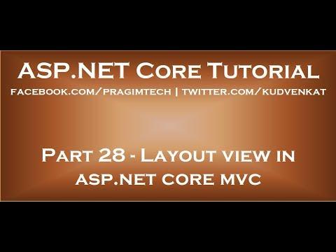 Layout View In Asp Net Core Mvc