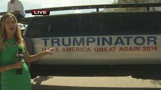 The Trumpinator at Donald Trump rally in Estero