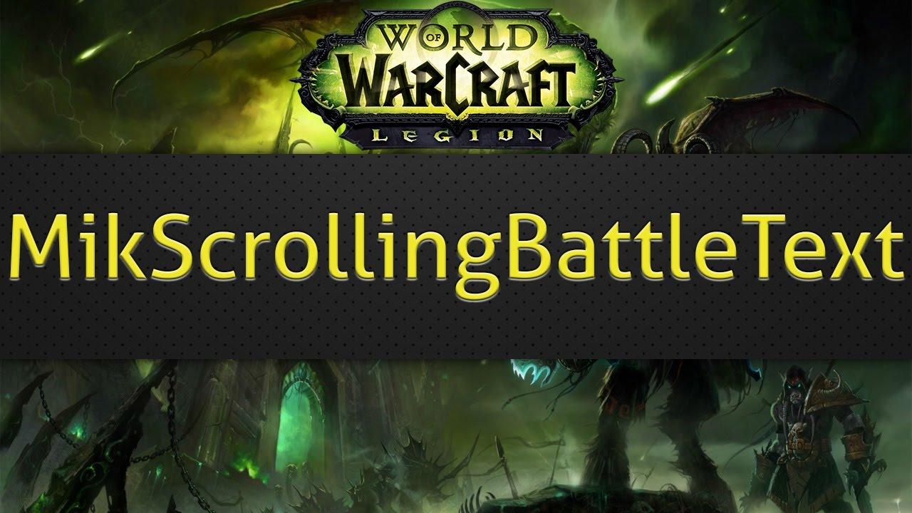 MikScrollingBattleText (wow combat addon) by TheRealKent