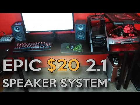 How To Make Your Own EPIC Budget $20 2.1 Speaker System (VLOG)