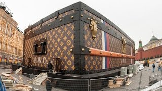 Video: Giant Louis Vuitton Trunk Descends On Red Square