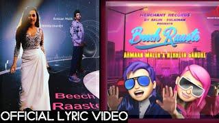 Gambar cover Beech Raaste (Lyric Video)  Ft. Armaan Malik & Nikhita Ghandhi Full Song | Salim-Sulaiman
