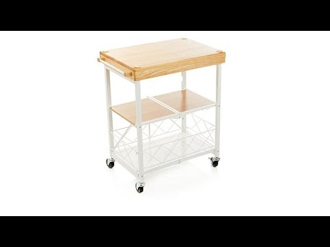 Origami Folding Kitchen Island Cart with Casters (With images ... | 360x480