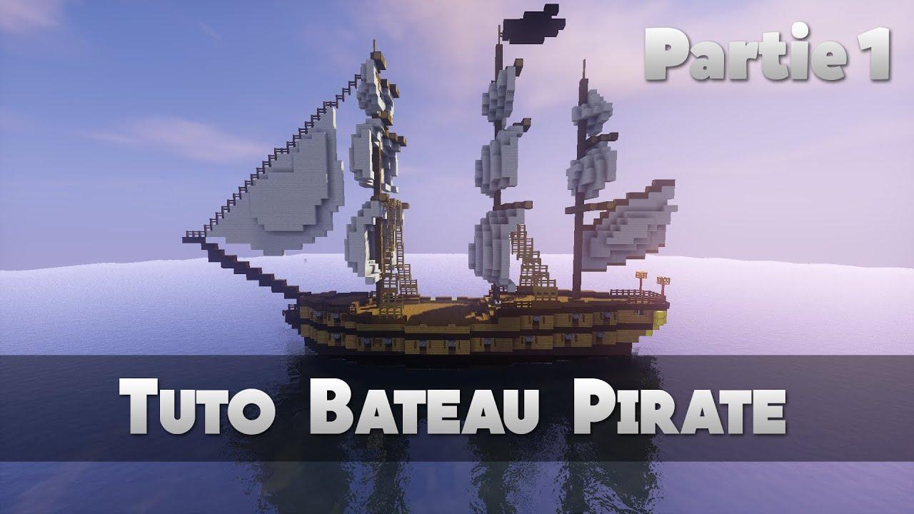tuto bateau pirate 1 2 minecraft youtube. Black Bedroom Furniture Sets. Home Design Ideas