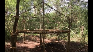 Primitive Survival Skills: Primitive Technology Build A Hut