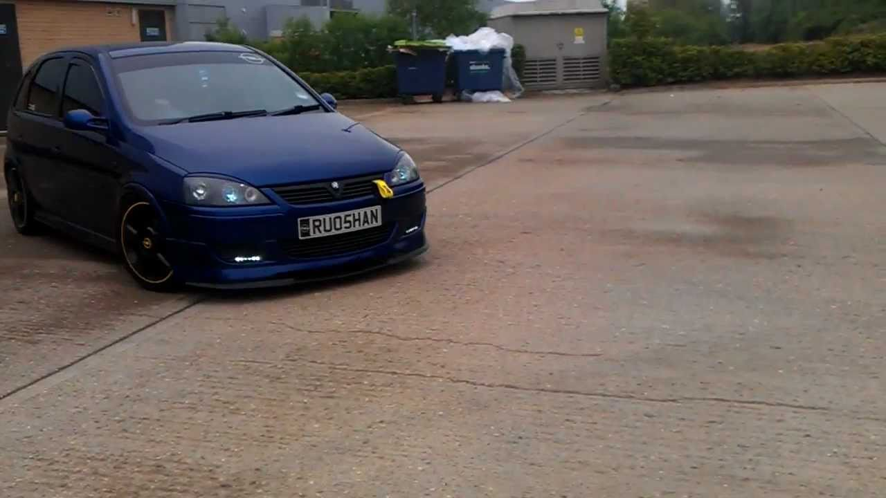 corsa c with a vxr exhaust youtube. Black Bedroom Furniture Sets. Home Design Ideas