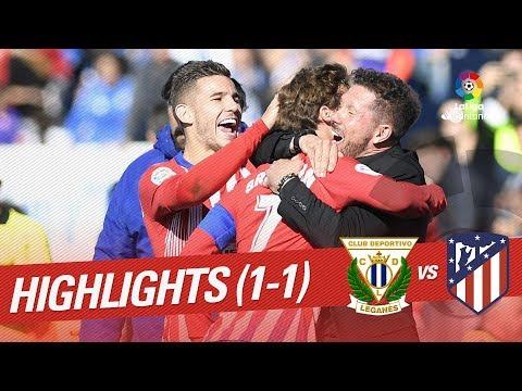 Resumen de CD Leganés vs Atlético de Madrid (1-1)