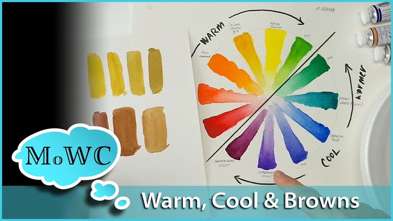 Warm vs Cool Colors in Watercolor & Mixing Browns - YouTube