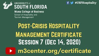 Post-Crisis Hospitality Management Certificate- Session 7