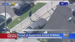 Suspects Wanted In Beverly Hills Armed Robbery Lead Police On High Speed Chase, Bail Out In Pico-Uni