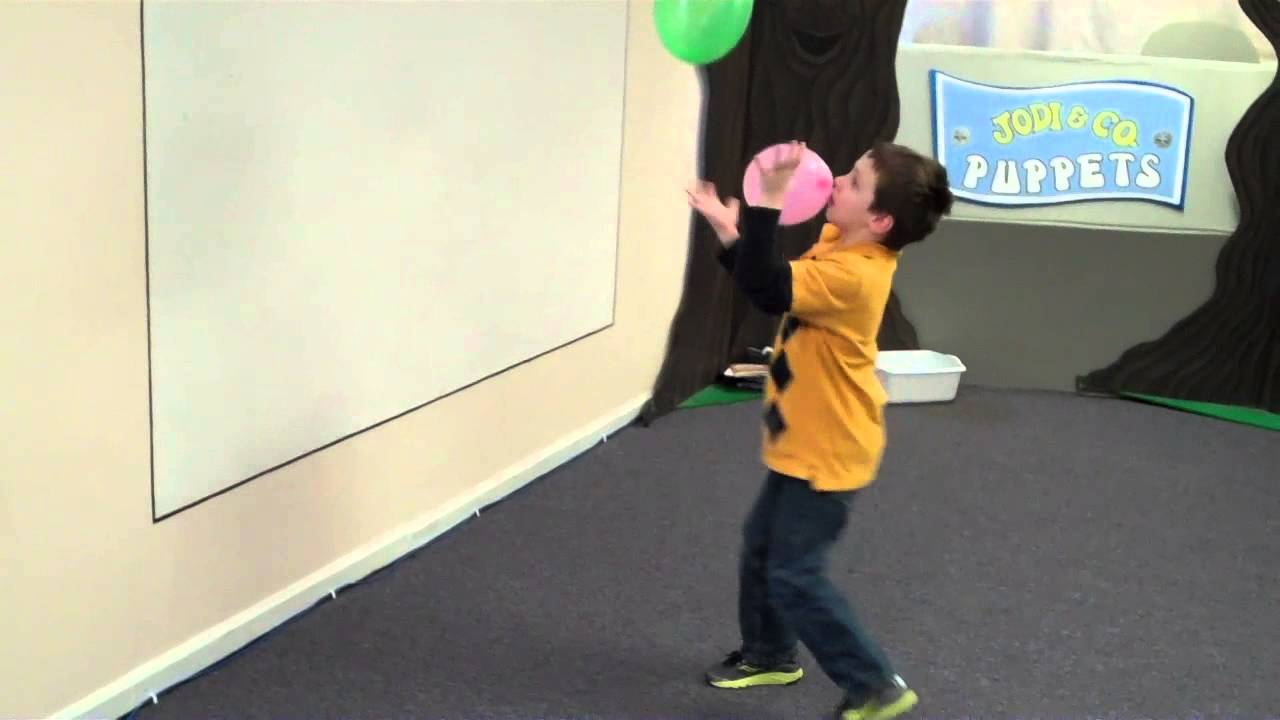 balloon juggle game bible verse review for kids youtube