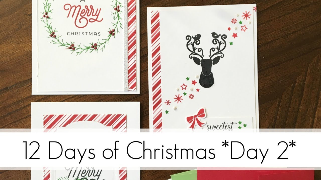 Traditional Christmas Colours - Simple, Easy to Replicate Cards ...