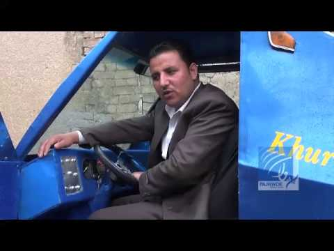 موتر آفتابی ساخت یک انجنیر افغان Solar car made in Afghanistan