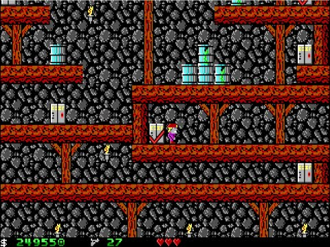 Apogee Crystal Caves I, Troubles With Twibbles, 1991. Level 10 Walkthrough